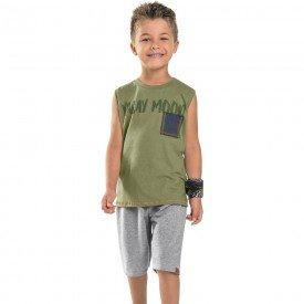 conjunto infantil masculino vacay mood verde militar mescla 104428 8866