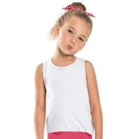 regata infantil feminina basica branca 104433a b 8878