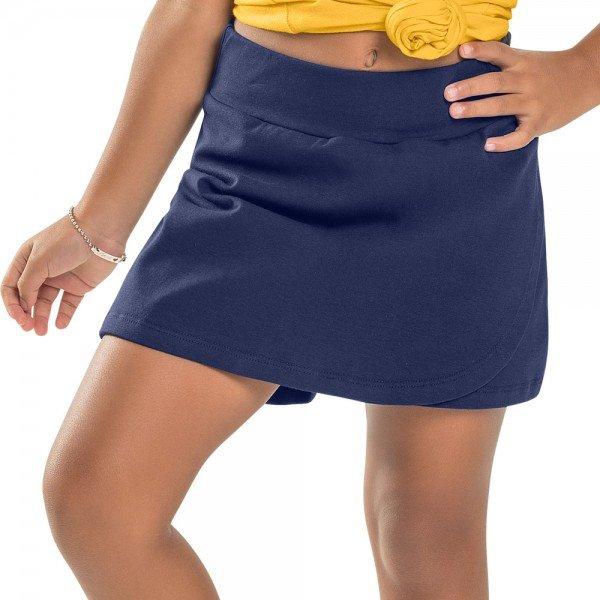 short saia infantil feminino basico marinho 104434ab 8831