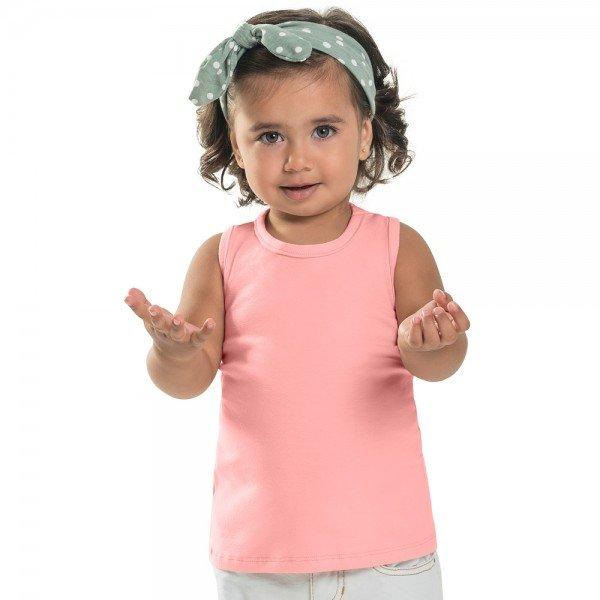 regata infantil feminina basica rosa claro 104433a b 8877