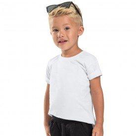 camiseta infantil masculina basica branca 104441a b 8884