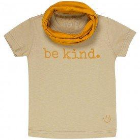 t shirt infantil unissex fendi be kind gola mostarda c 03 02 01 g 01 8570