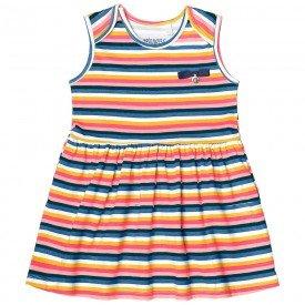 vestido bebe menina listrado marinho com rosa 104327 8805