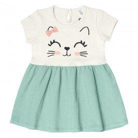vestido bebe menina gatinho off white 104329 8808