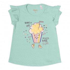 blusa infantil feminina verde claro com pompom 104340 8814