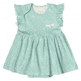 body vestido bebe menina poa verde claro 104333 8811