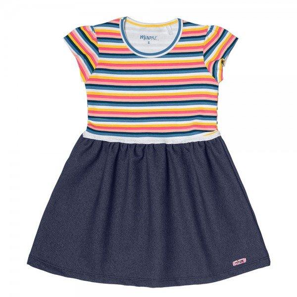 vestido infantil feminino marinho com rosa cotton jeans 104339 8813