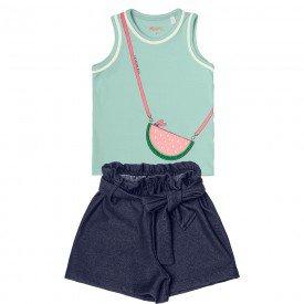 conjunto infantil feminino verde claro cotton jeans 104344 8816