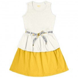 vestido infantil feminino team love off white 104361 8822