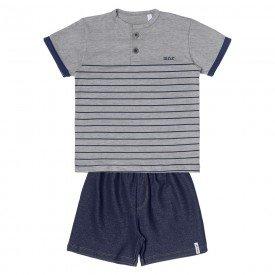 conjunto bebe menino camiseta mescla bermuda cotton jeans 104394 8834