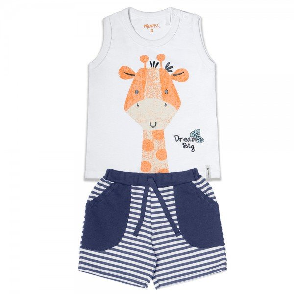 conjunto bebe menino girafa branco marinho 104393 8832