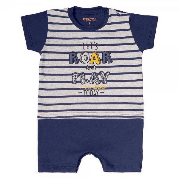 macaquinho bebe menino roar mescla claro marinho 104396 8838
