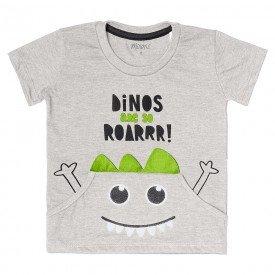 camiseta infantil masculina dinos mescla claro 104404 8845