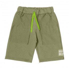 bermuda infantil masculina verde militar cordao neon 104423 8864