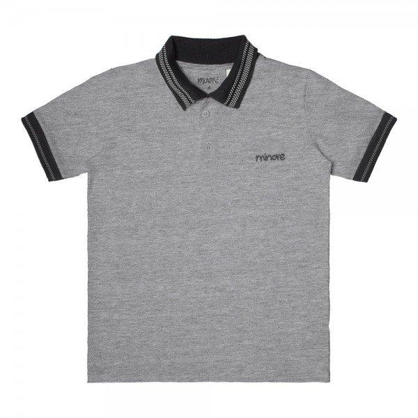 camisa polo infantil masculina mescla 104425 8865