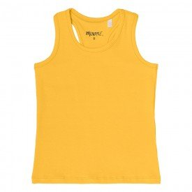 regata infantil feminina basica amarela 104433ab 8876