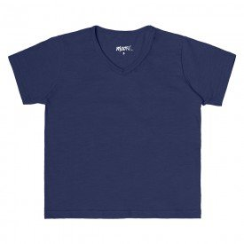 camiseta infantil masculina decote v marinho 104442ab 8887