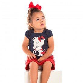 conjunto bebe menina ursinho marinho vermelho 1238 8602