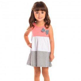 vestido infantil feminino goiaba branco mescla 1259 8648 2