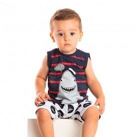 conjunto bebe menino shark marinho branco 1243 8694 2