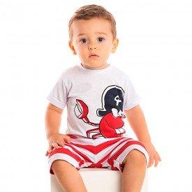 conjunto bebe menino caranguejo branco 1244 8697 2