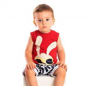 conjunto bebe menino coelho vermelho branco 1245 8701 2