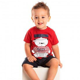 conjunto bebe menino teddy vermelho marinho 1246 8702 2