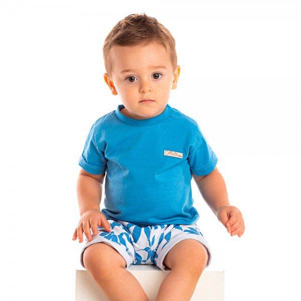 conjunto infantil masculino tropical azul anil branco 1247 1268 8706 2