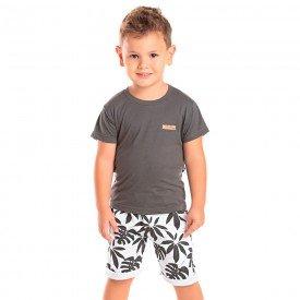 conjunto infantil masculino tropical chumbo branco 1268 8729 02