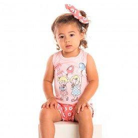 conjunto bebe menina ice cream rosa claro goiaba 1241 8610 2