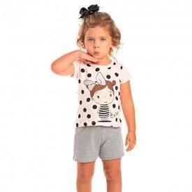 conjunto infantil feminino cute rosa claro mescla 1248 8615 2