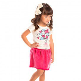 conjunto infantil feminino coracoes off white pink 1253 8631 2