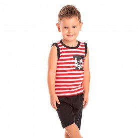 conjunto infantil masculino surfing vermelho preto 1271 8740 2