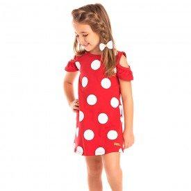 vestido infantil feminino poa vermelho 1274 8656 2