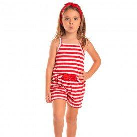 macaquinho infantil feminino listrado vermelho 1276 8662 2
