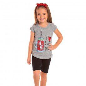 conjunto infantil feminino summer mescla preto 1281 8677 2