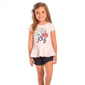 conjunto infantil feminino joy rosa claro marinho 1282 8679 2