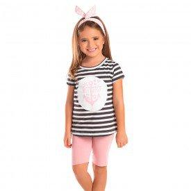 conjunto infantil feminino ancora preto rosa po 1283 8682 2