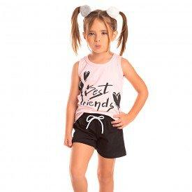 conjunto infantil feminino best friends rosa po preto 1286 8690 2