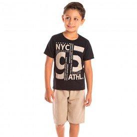conjunto infantil masculino new york preto trigo 1287 8750 2