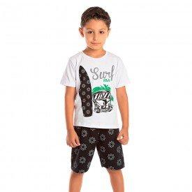 conjunto infantil masculino surf branco preto 1289 8754 2