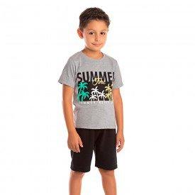 conjunto infantil masculino summer mescla preto 1291 8760 2