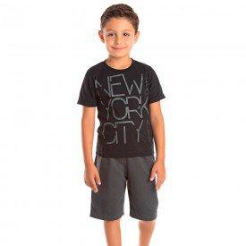 conjunto infantil masculino new york city preto chumbo 1296 8775 2