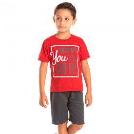 conjunto infantil masculino you can vermelho chumbo 1298 8780 2