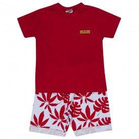 conjunto bebe menino tropical vermelhobranco 1247 8705