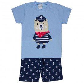 conjunto infantil masculino marinheiro azul claro marinho 1266 8723