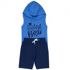 conjunto infantil masculino mini boss azul anil marinho 1270 8736 2