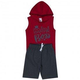 conjunto infantil masculino mini boss vermelho chumbo 1270 8737 2
