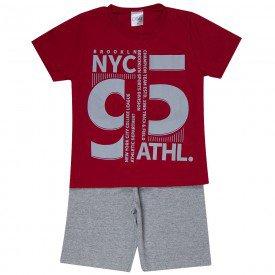 conjunto infantil masculino new york vermelho mescla 1287 8748