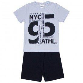 conjunto infantil masculino new york branco preto 1287 8749